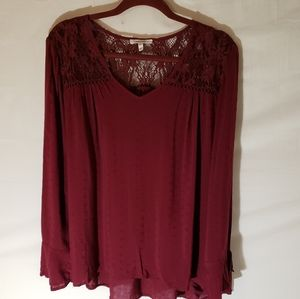 Maurices burgundy top size 0